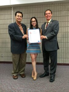 With my sincere thanks to City of Carson Mayor Jim Dear (right) and Pro Tem Elito Santarina