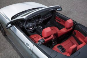 The BMW 2 Series Convertible: The leather is treated to absorb less heat from the sun's rays. ©BMW