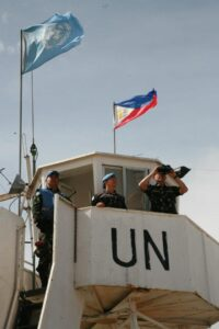 A contingent of Philippine soldiers – more than 70 strong – manned this UN post in Golan Heights before engaging Syrian rebels for seven hours on Saturday. Though surrounded and attacked with heavy artillery, the Filipino UN peacekeepers held their ground and were able to escape through the cover of darkness. Photos of Filipino UN peacekeepers in Golan Heighs by First Consul Elmer G. Cato/DFA.