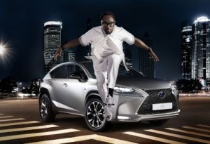 Nexus chose will.i.am as a spokesperson for its first premium compact crossover, the NX. ©Nexus