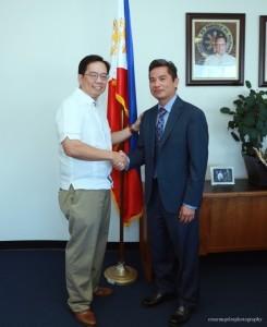 Photo above shows Consul General Leo Herrera-Lim congratulating Mr. Audie de Castro as the  Philippine Honorary Consul for San Diego, CA.