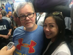Freddie Roach and Jannelle So
