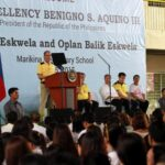 Aquino checks preparations for class opening next week