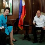 Princess Anne of the United Kingdom pays courtesy call on President Aquino