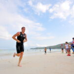 Aussie wins 'tougher' Sarbay Fest triathlon