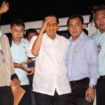 Out-on-bail Enrile visits still-detained Jinggoy, Bong Revilla