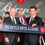 Gov. Brown leads unveiling of Bicycle Hotel and Casino in Bell Gardens