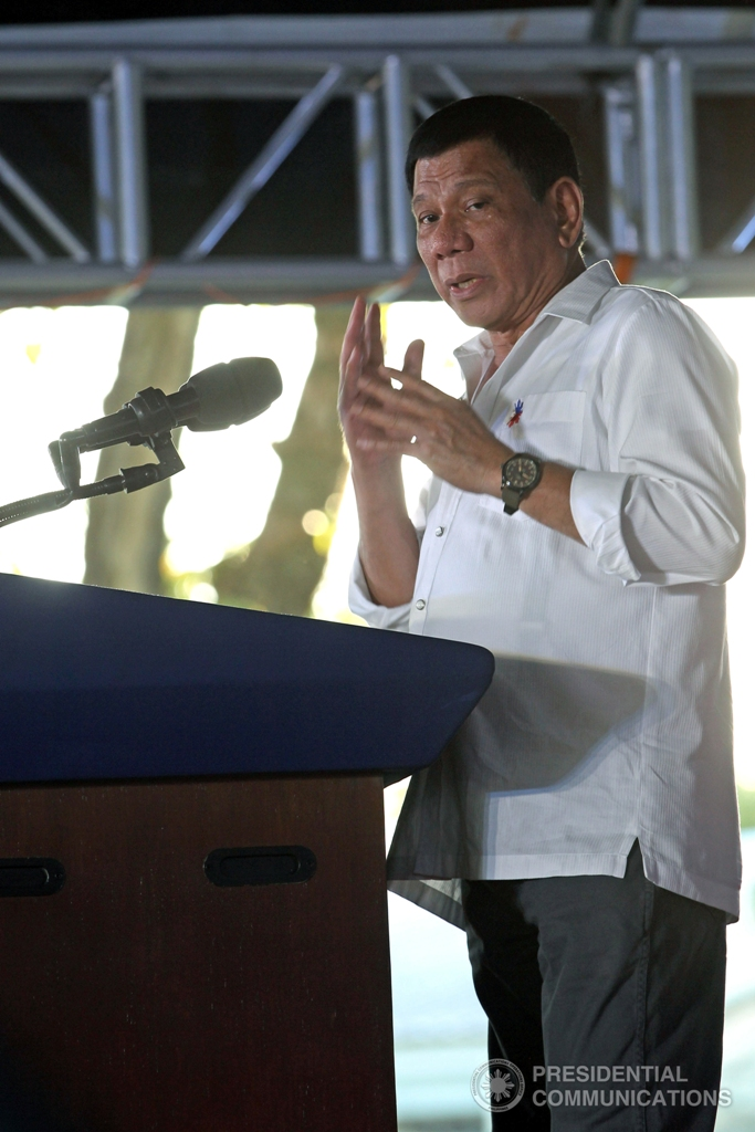 President Rodrigo Roa Duterte reiterates the huge problem of illegal drugs in the country is in his speech during the 'Convergence of Nanay Volunteers as Community Drugwatch' held at the Parade Grounds in Clarkfield, Angeles City, Pampanga on December 22, 2016. (MNS photo)